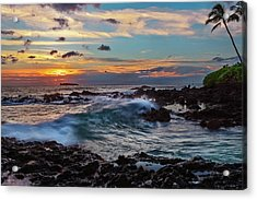 Maui Sunset At Secret Beach Acrylic Print