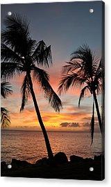 Maui Sunset Palms Acrylic Print by Kelly Wade