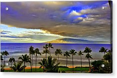 Maui Sunset At Hyatt Residence Club Acrylic Print