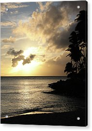 Maui Sunset Vertical Acrylic Print