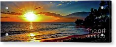 Maui Wedding Beach Sunset  Acrylic Print