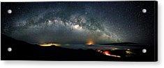 Mauna Kea Milky Way Panorama Acrylic Print