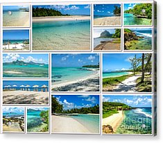 Mauritius Tropical Beaches Collage Acrylic Print