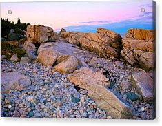 Mauve Light On Schoodic Penninsula Acrylic Print