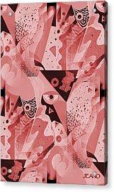 Mauve Melange Acrylic Print