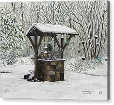 Mavis' Well Acrylic Print by Mary Ann King