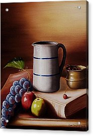 Acrylic Print featuring the painting Maws Pitcher by Gene Gregory