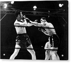 Max Schmeling Fights Joe Louis Acrylic Print by Everett