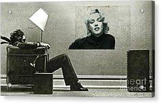 Maxell Ad Blown Away, Marilyn Monroe Acrylic Print