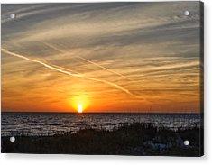 Maxine Barritt Park Sunset   -  Maxbarr874 Acrylic Print