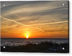 Maxine Barritt Park Sunset   -  Maxbarr874 Acrylic Print by Frank J Benz