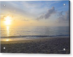 Acrylic Print featuring the photograph May 28th Sunrise by Barbara Ann Bell