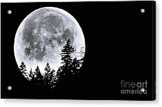 May 4 Moon Set Acrylic Print