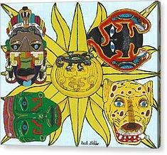 May  Aztec Masks Acrylic Print