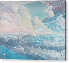 May Colored Clouds Acrylic Print by John Wise