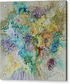 Acrylic Print featuring the painting May Flowers by Joanne Smoley
