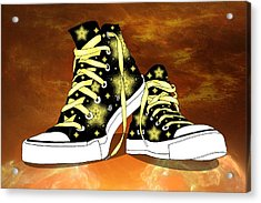 May I Converse With You Acrylic Print by Davandra Cribbie