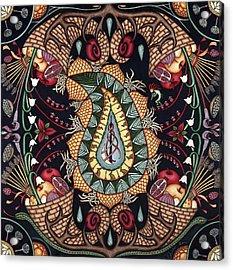 May Mandala Or Fertility Acrylic Print by Jess-o