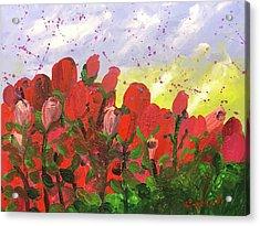 May Roses Acrylic Print