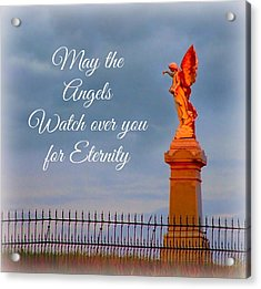 May The Angels Watch Over You Acrylic Print