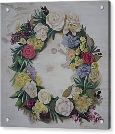May Wreath Acrylic Print