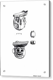 Maya Ceramic Head Acrylic Print