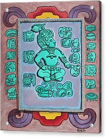 Acrylic Print featuring the painting Mayan Prince by Antonio Romero