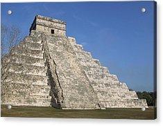 Mayan Ruins At Chichen Itza, Kukulcans Pyramid, Yucatan, Mexico Acrylic Print by Tom Brakefield