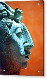 Mayan Sculpture Acrylic Print