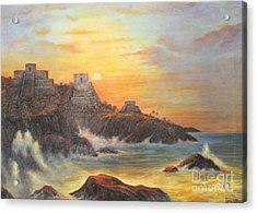Mayan Sunset Acrylic Print