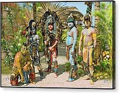Mayans Acrylic Print by Jorge Gaete