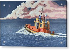 Acrylic Print featuring the painting Mayday- I Require A Tug by Gary Giacomelli