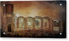 Mayfair Mills Ruins Easley South Carolina Acrylic Print by Bellesouth Studio