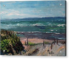 Mayflower Beach Acrylic Print by Michael Helfen