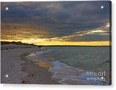 Mayflower Beach Walk Acrylic Print