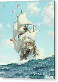 Mayflower II - Detail Acrylic Print by Montague DawsonMayflower II
