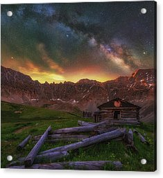 Acrylic Print featuring the photograph Mayflower Milky Way by Darren White
