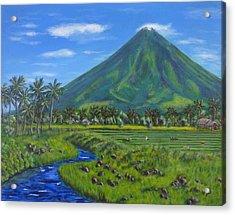 Mayon Volcano Acrylic Print