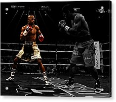 Mayweather And Pacquiao Acrylic Print by Brian Reaves