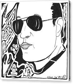 Maze Of Eli Gurock Acrylic Print by Yonatan Frimer Maze Artist