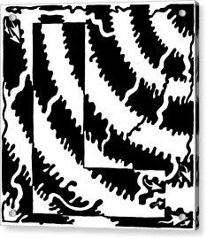 Maze Of The Letter L Acrylic Print by Yonatan Frimer Maze Artist