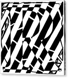 Maze Of The Letter R Acrylic Print by Yonatan Frimer Maze Artist