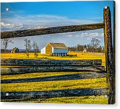 Acrylic Print featuring the photograph Mc Pherson Barn - Gettysburg National Park by Nick Zelinsky