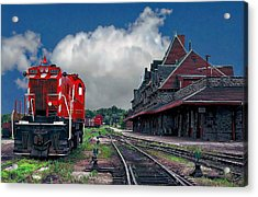 Mcadam Train Station Acrylic Print