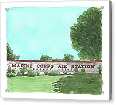 Mcas Cherry Point Welcome Acrylic Print