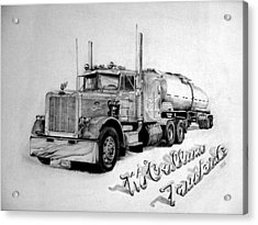 Mccallum Trucking Acrylic Print by Dean Herbert
