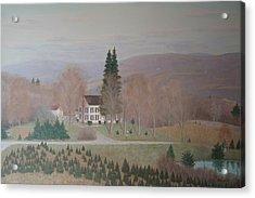 Mccarty Farm House Acrylic Print by Joseph Stevenson