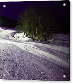 Mccauley Evening Snowscape Acrylic Print by David Patterson