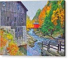 Acrylic Print featuring the digital art Mcconnells Mill State Park  by Digital Photographic Arts