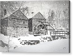 Mccormick's Farm February 2012 Series Vi Acrylic Print by Kathy Jennings